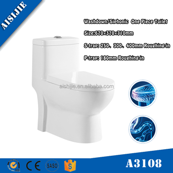 A3108 Hot design China Manufacturer Bathroom One Piece Sanitary Ware Ceramic Toilet bowl