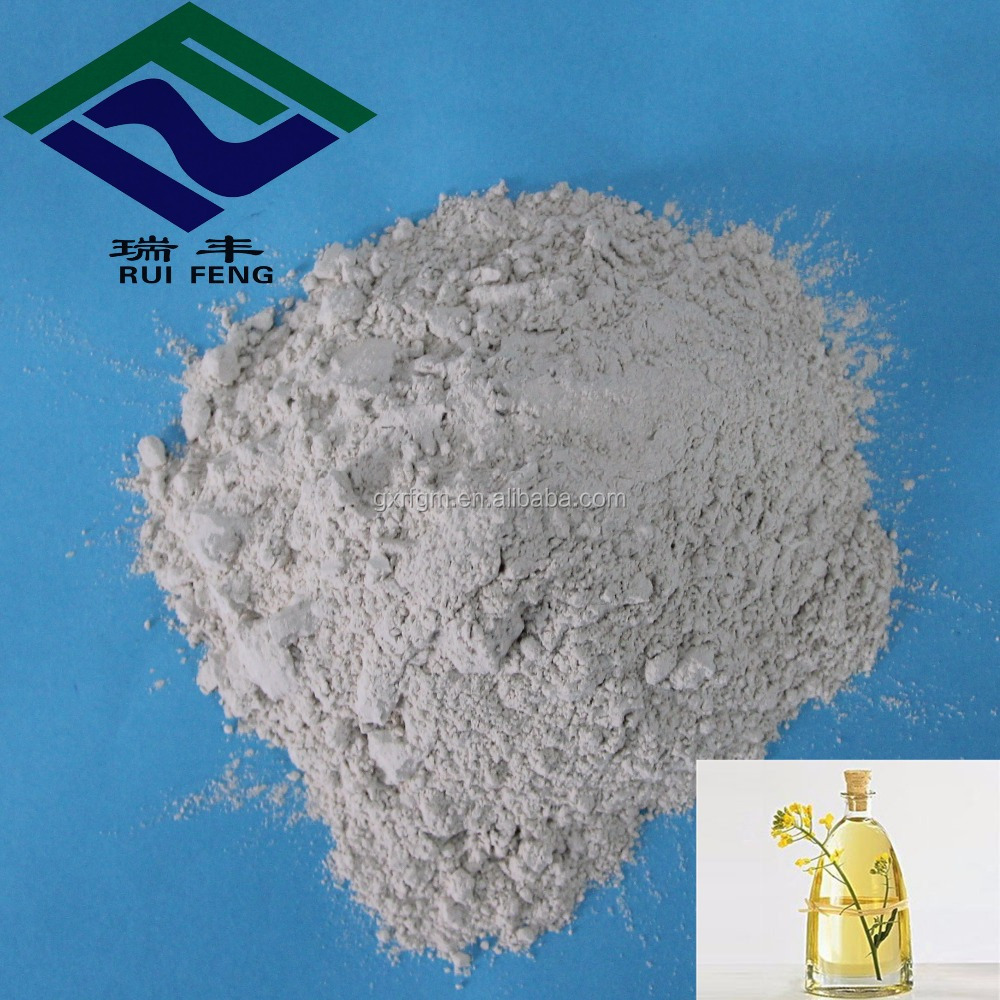 Chemical industry products used for cooking oil and grease refined acid bleaching earth bentonite