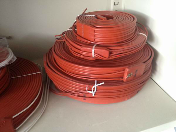 2000*15mm Flexible Silicone Rubber Industrial Heater wire heating