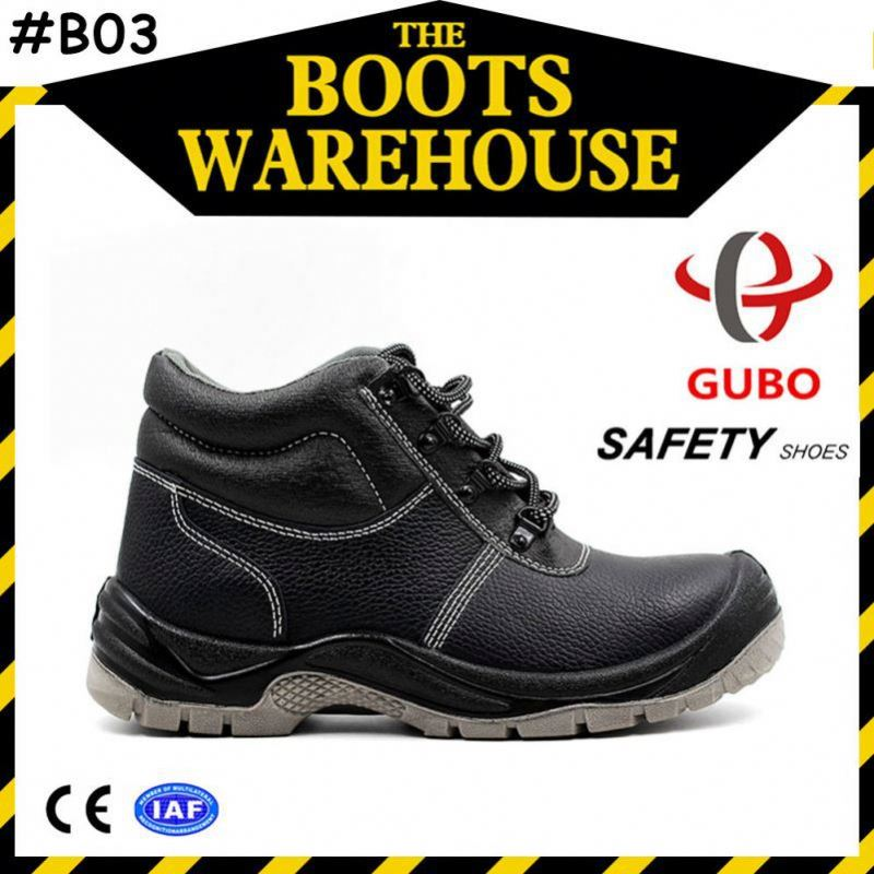 Executive Crazy horse leather safety boot