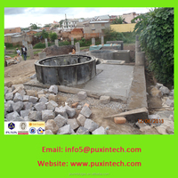 PUXIN biogas plant using human waste and food waste making biogas