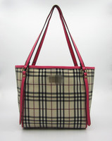Hot fashion Tote with grid PU