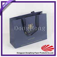 Custom printed cheap paper shopping bag brand name with handle