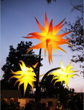 outdoor christmas decorations hanging inflatable star with led light