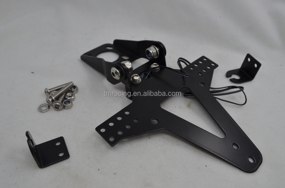 MOTORCYCLE NUMBER PLATE HANGER TAIL TIDY BRACKET BLACK license plate holder for R6 06-13 ZX6r 09 -13 zxr 10 r 08-10