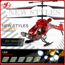 Flying Dragon ABS Airplane Model 2.4G Big Size RC Gyro Copter 3.5CH Helicopter Toys With Searchlight