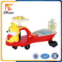 Hot item cheap plastic toy cars children swing car cartoon toy car with music light