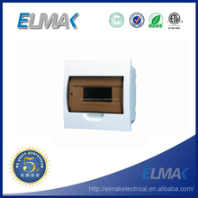 8 ways Flush Mounted Plastic Electrical MCB Distribution Box