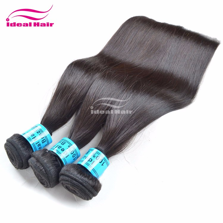 Factory directly sales heathy unprocessed virgin brazilian hair 5a straight hair
