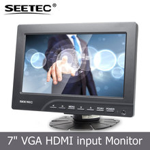 7inch VGA AV HDMI input low power consumption stand bracket mini tv monitors with touchscreen