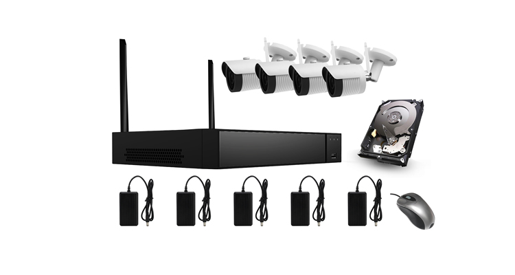 Cantonk 1080P 4CH cctv nvr security alarm system wifi nvr kits