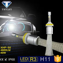 hot new products for 2015 motorcycle accessories 40W 4800lm 6000k auto lights led headlight for car