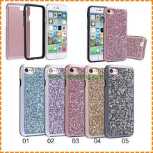 Hybrid Shockproof Full Body 2 in 1 Diamond Shinning Phone Cases for Iphone 7 7 plus
