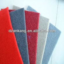 5mm thickness Velour auto carpet no woven felt in rolls