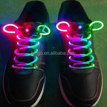 2016 popular regalo promocional para chrismas moda led cordones de los zapatos al por mayor