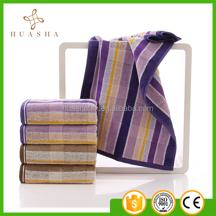 Wholesales 32S Extra Thick Yarn Dyed Striped Great Quality Face Towels Towels Set