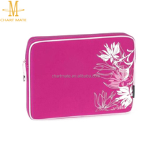 Rose red color computer notebook laptop bag for teenagers