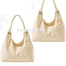 Korean Style Lady Hobo Purse Weave bag PU Handbag 2013