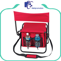 Wellpromotion Folding Fishing Chair with Cooler Bag
