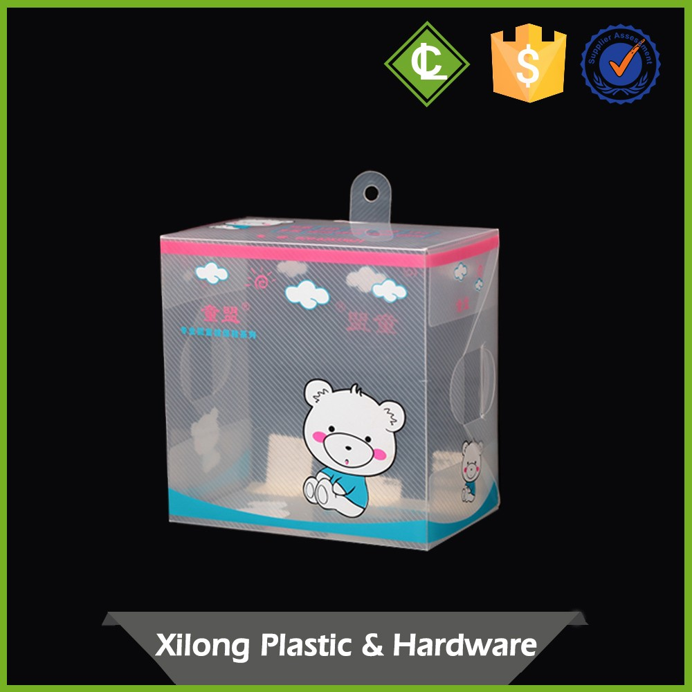 OEM Production transparent clear pp fold automatic-lock bottom baby shoe packaging box