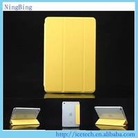 High quality 3 folders TPU flip minion case for apple ipad air 2 cover