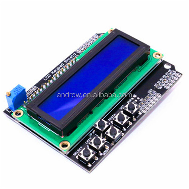 New Keypad Shield Blue Backlight For Aduino Duemilanove Robot LCD 1602 Board