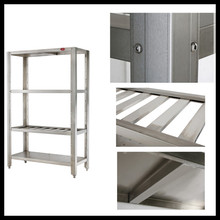 Knock-down Structure Stainless Steel Kitchen Shelf / Stainless Steel Commercial Kitchen Corner Shelf
