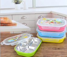 Factory Food Grade SS304 OEM cartoon Bento Box Stainless Steel bento Box For Kids