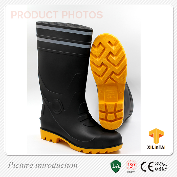 Waterproof Safety PVC Rain Boot with Reflective Tape