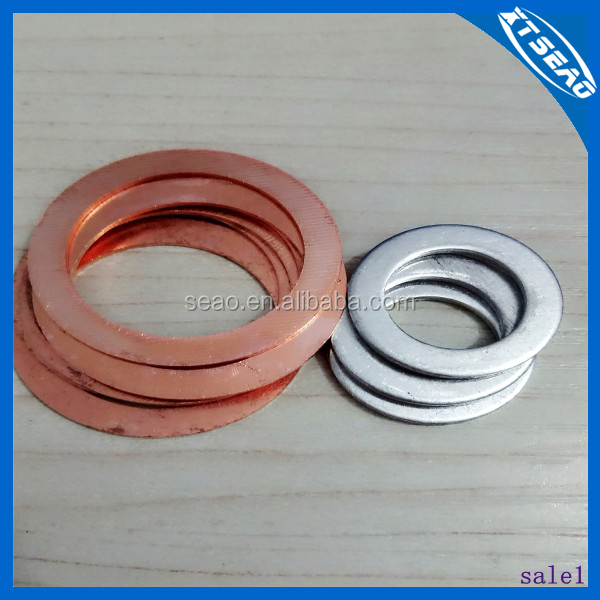 Aluminum sealed gaskets/ flat copper washer /large copper washer