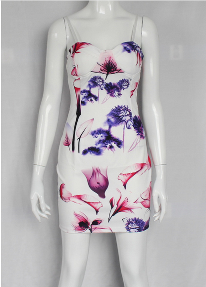 C72131A China New Fashion Casual Style Printed Woman Dress