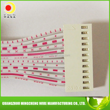 UL2468 26AWG 12Pin 2510 Electric Wire Red and white flat ribbon wires and cables