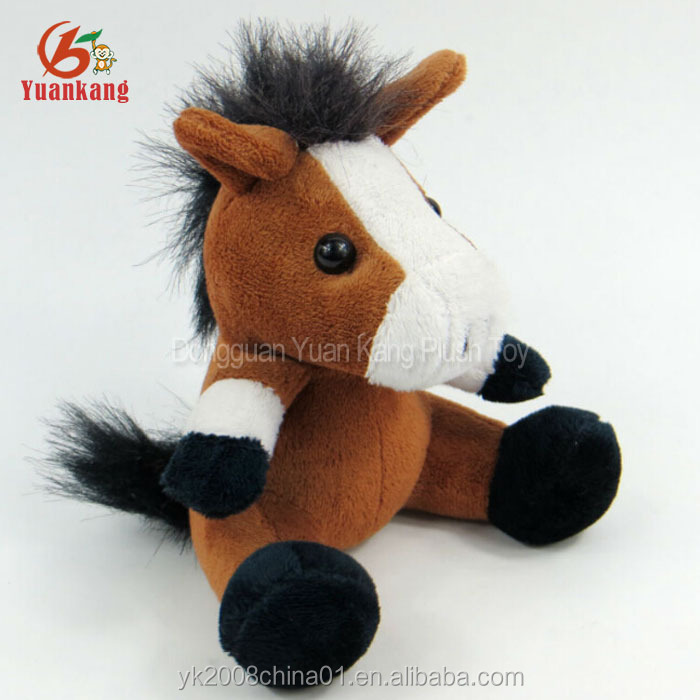 20cm custom soft stuffed animal toys manufacturer plush horse