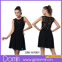 2014 New Design Fashion Summer Black Lace Party Dress for Women