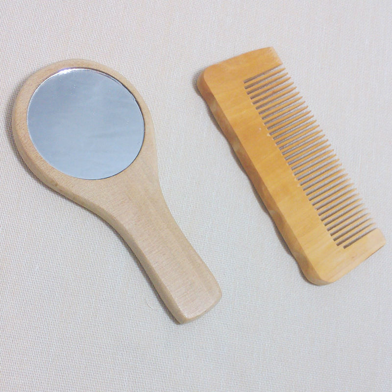 Latest Promotional massager brush set with mirror