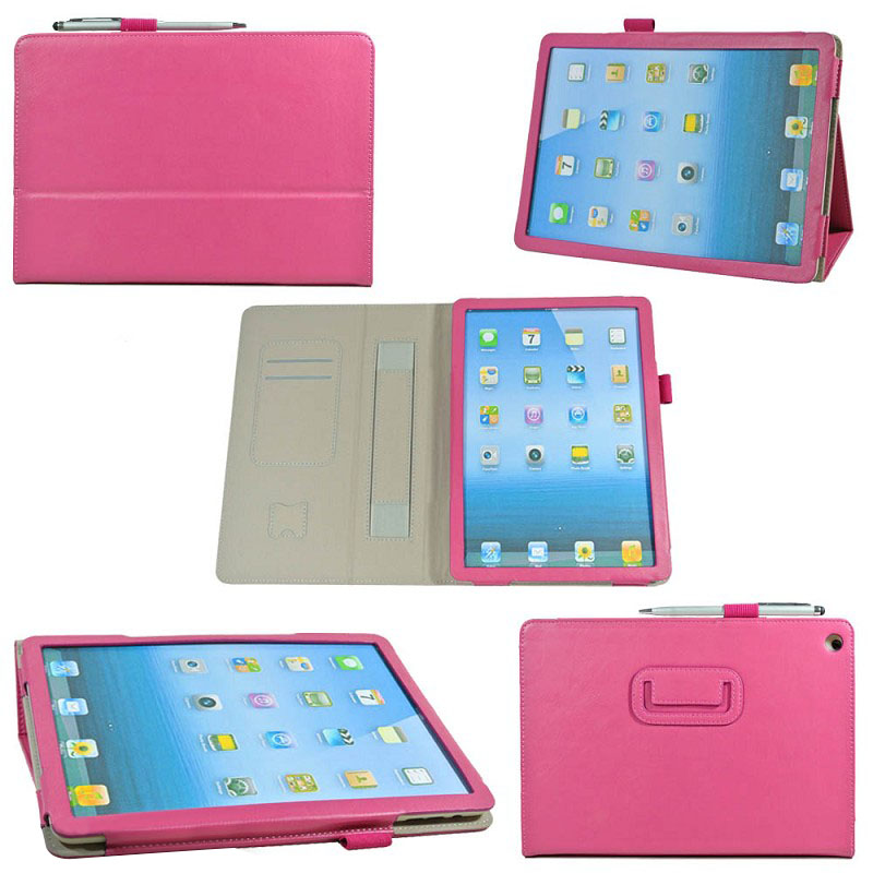 genuine Leather Case Cover for iPad Air with Pen Slot and Handle , for Ipad Air Cover