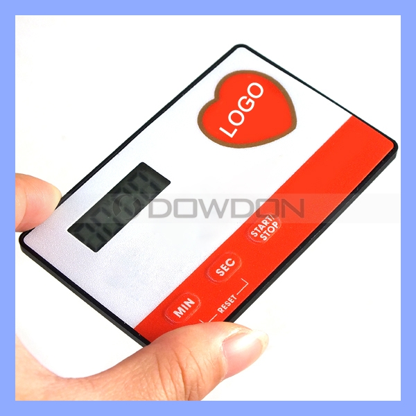 Super Slim Portable Credit Card Timer for Pocket Morning Call Alarm