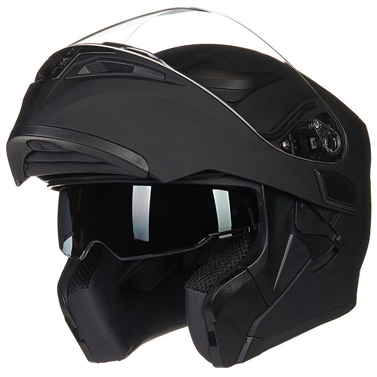 DOT approved double visor modular flip up motorcycle helmet casco abatible