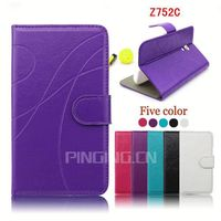 Leather cell phone case for ZTE Z752C,cell phone leather cover for ZTE Z752C