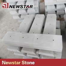 Natural stone staircase railing