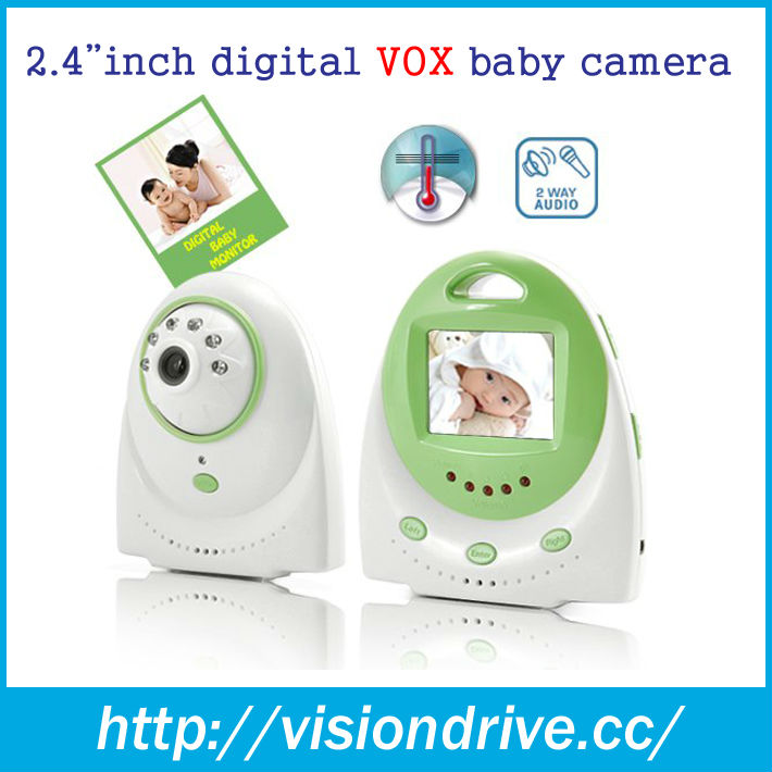 2.4 Ghz digital long distance baby monitor 2.4''LCD screen night vision audio video wireless color baby monitor