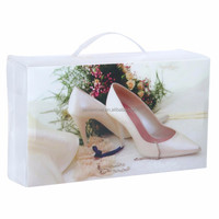 Factory wholesale printed plastic PP shoe storage box