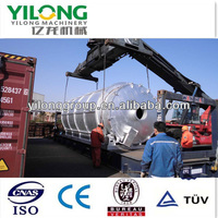 waste tire or plastic to energy oil recycling equipment