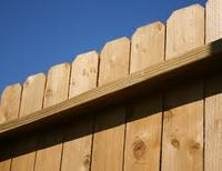 slant ear fence / dog ear wood fence garden fence