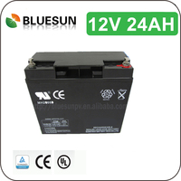 Bluesun gel vrla battery 12v 24ah with full Certificate