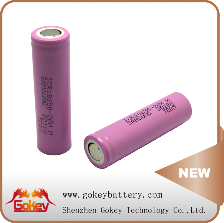 Samsung 26HM 3.7V 2600mAh CE/RoHS/UN38.3/MSDS Rechargeable Electric Vehicle Battery
