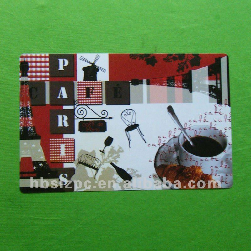 New Technology PP placemat set / table setting placemat