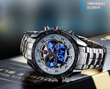 Chinese Luxury Watch Brands TVG Man Thesealelite Watch. Double movement quartz and led watch TVG.