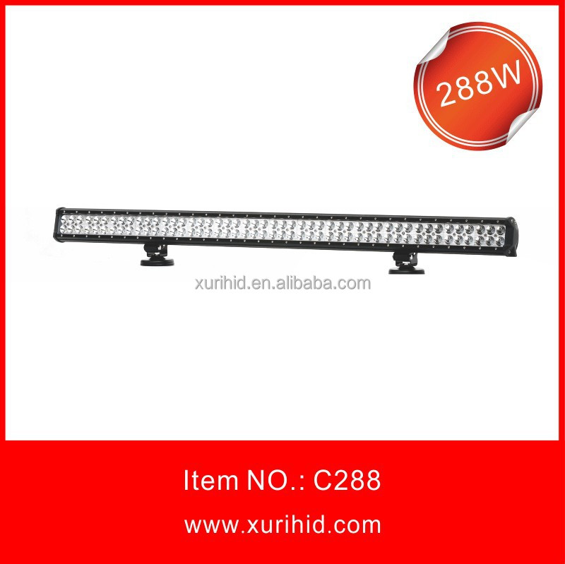 High brightness! 288w led light bar adjustable base mount