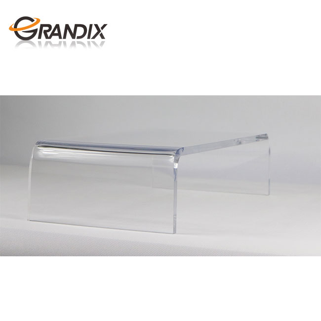 Clear acrylic PC/computer monitor stand with storage
